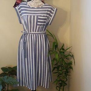 Stripped Short Sleeve Dress